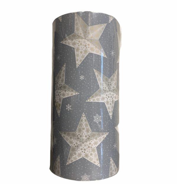 Grau Geschenkpapier Stern drucken C4133