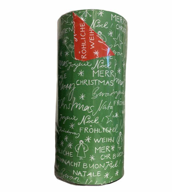 Doppelseitiges weihnachtliches grünes Papier C4134