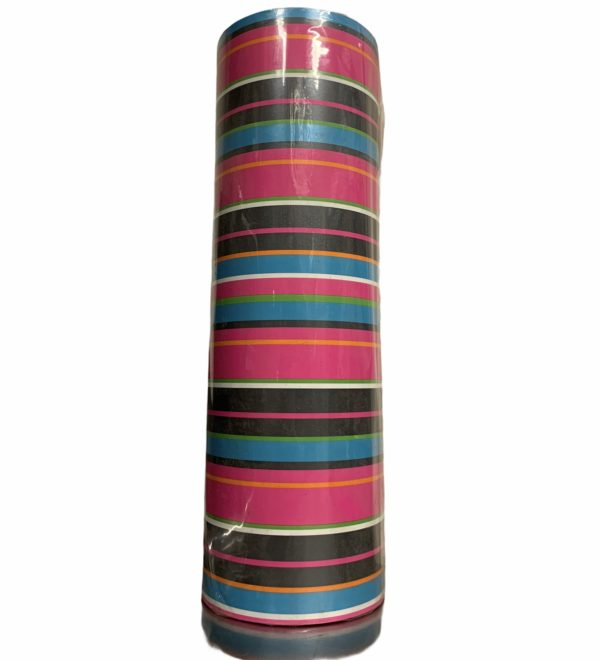 Geschenkpapier mit farbigen Streifen C4142