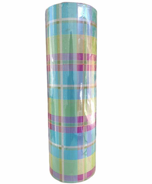 Geschenkpapier farbige Quadrate Grün C4138