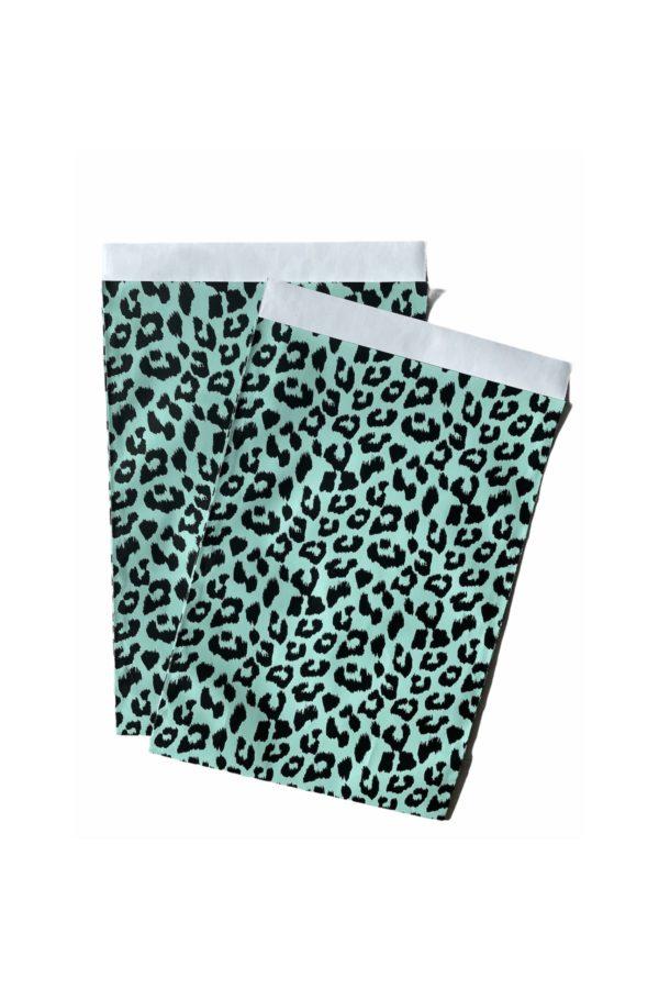 Geschenktaschen Leopard Panther Schwarz Mint