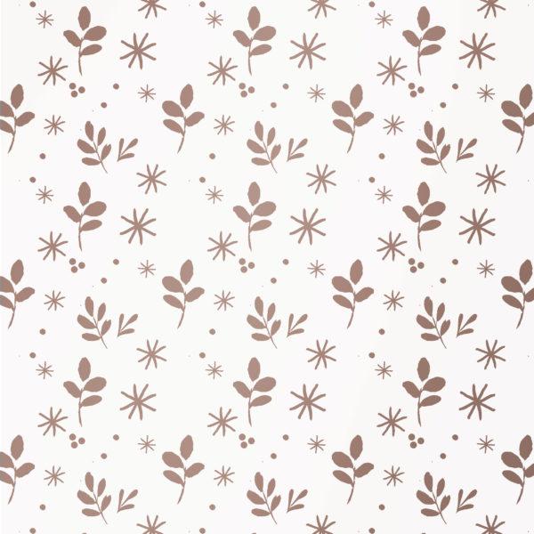 Geschenkpapier Rosa Blätter und Sterne