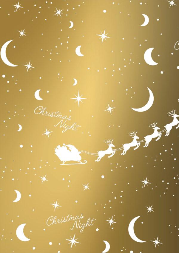 Weihnachtsgeschenkpapier Gold Xmas Nights