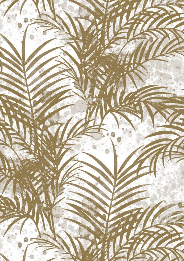 Cadeaupapier inpakpapier Gouden Palm Bladeren