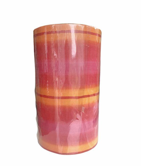 Geschenkpapier Streifen Orange Rot Rosa
