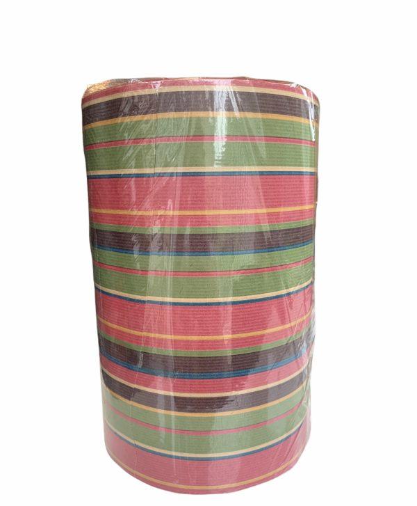 Geschenkpapier Streifen Rot Grün Braun