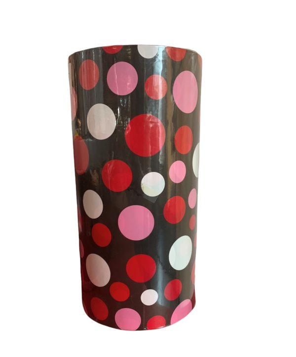 Geschenkpapier Rot Rosa Weiß Dots