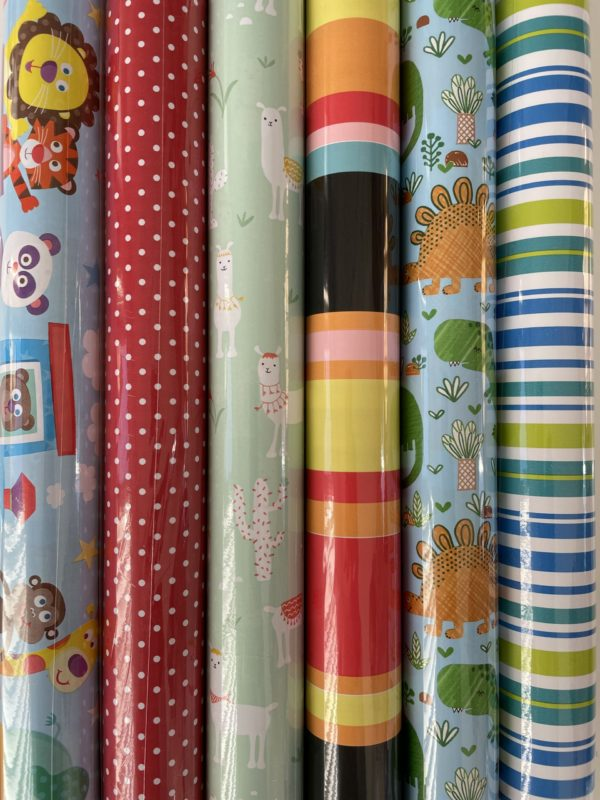 Kinder-Geschenkpapier 6 Rollen 200x70cm