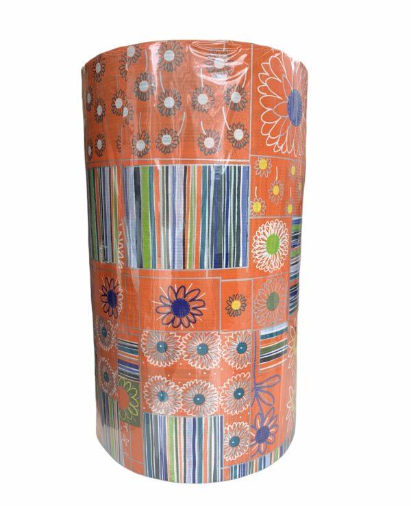 Geschenkpapier Orange Blume