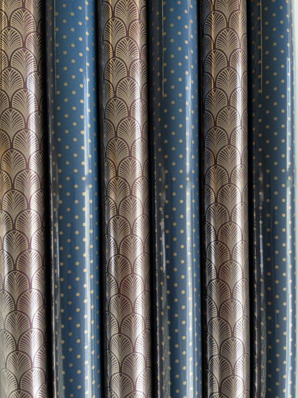 Geschenkpapier Luxus Blau 6 Rollen