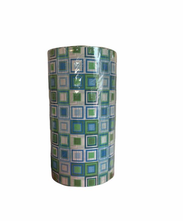 Geschenkpapier Blau Grün Quadratisch