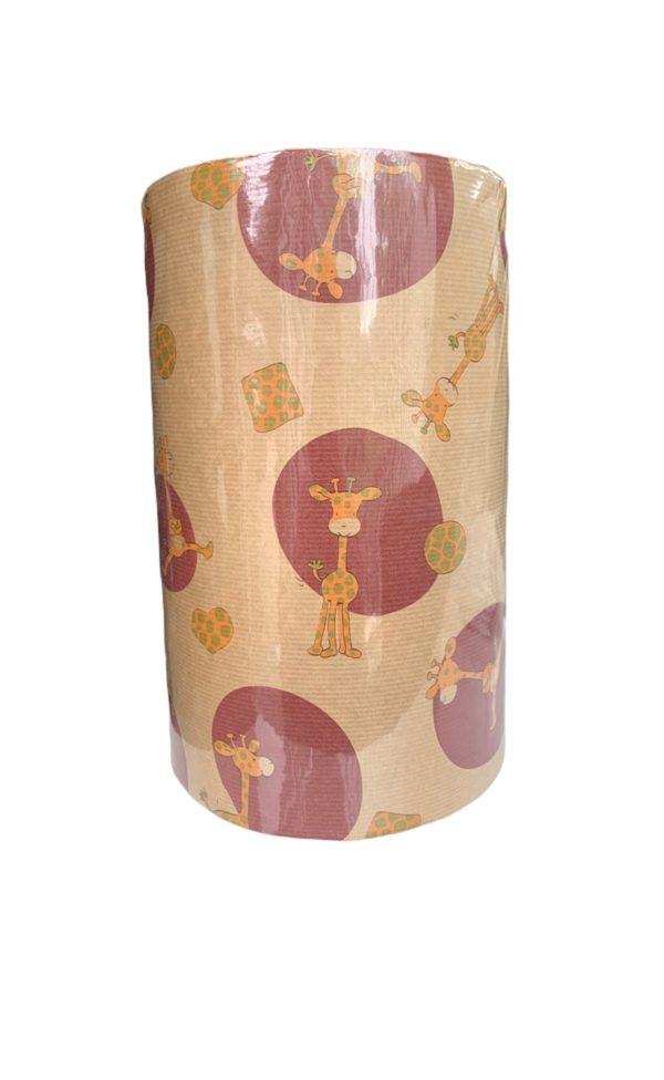 Geschenkpapier Kinder Giraffe Braun