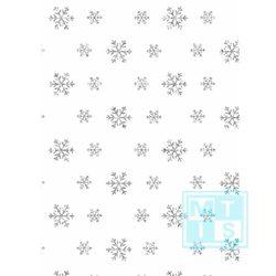 Geschenkpapier Weihnachtspapier Glitter Snow Crystals