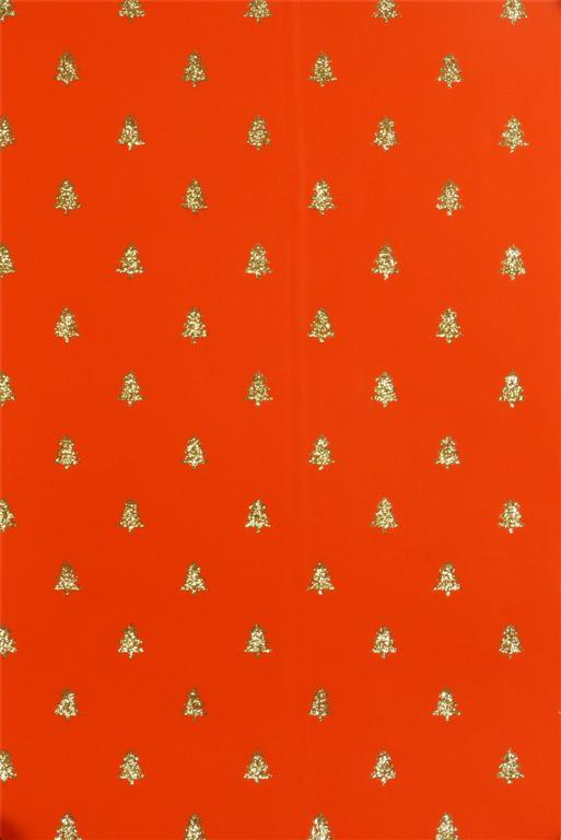 Geschenkverpackte Papierweihnachtsbäume Goldglitter