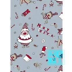 Weihnachtsgeschenkpapier Ice Blue Happ Claus