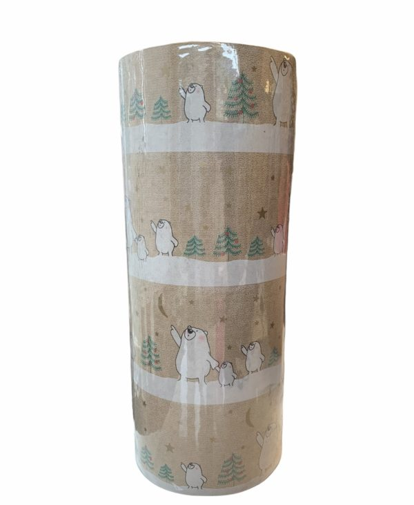 Weihnachtsgeschenkpapier Papa Bär Braun