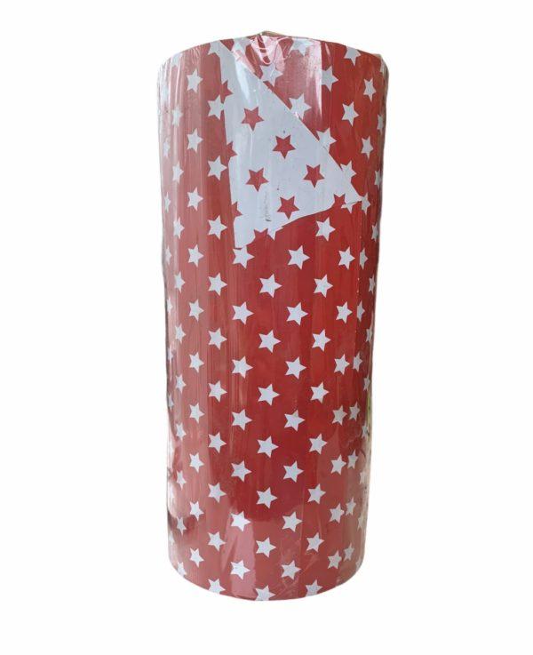 Weihnachtspapier Rote Sterne Doppelseitig